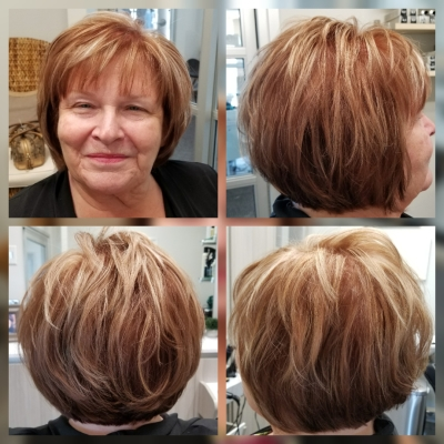 Partial highlight/lowlight, All Over color, Cut by Laura Covell